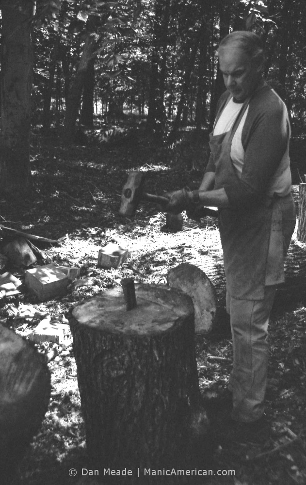Keith Allen wood splitting lesson, #2