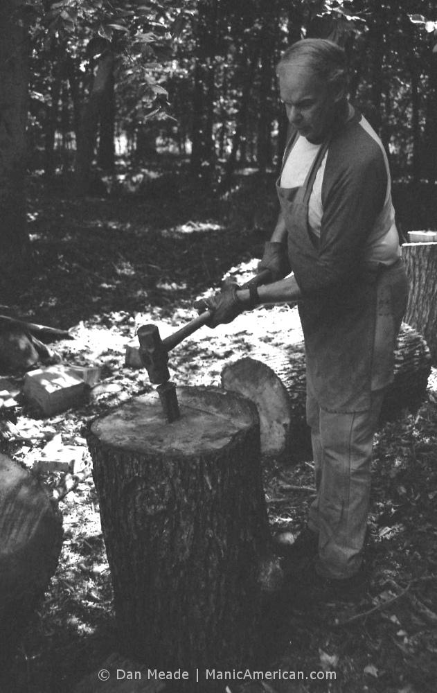 Keith Allen wood splitting lesson, #3