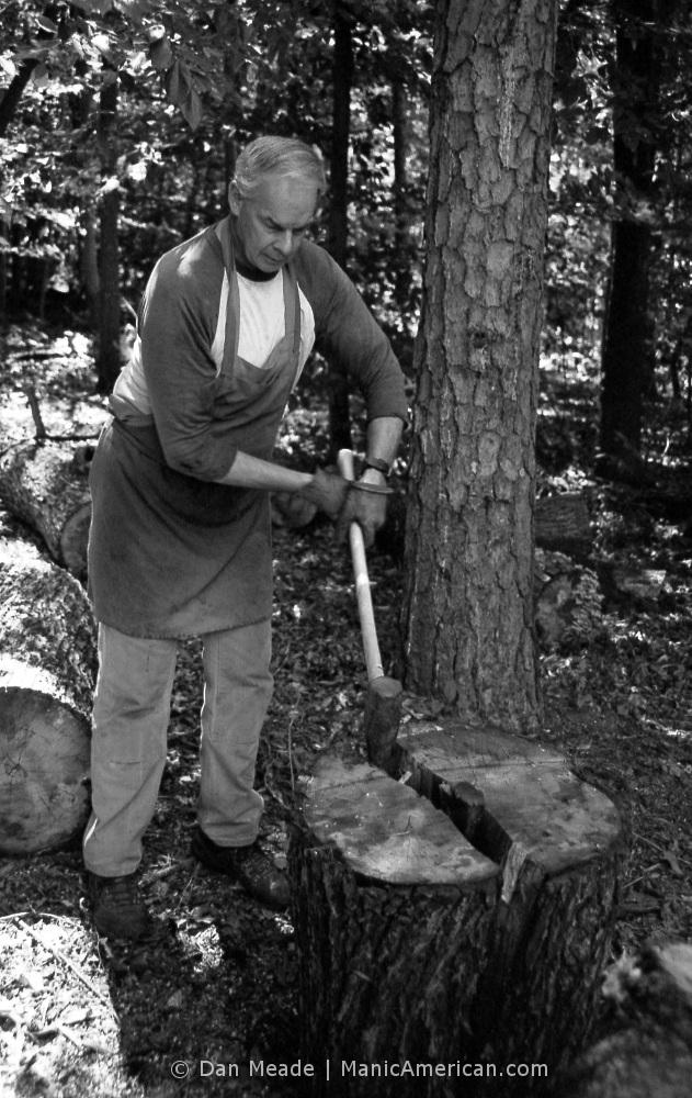 Keith Allen wood splitting lesson, #4