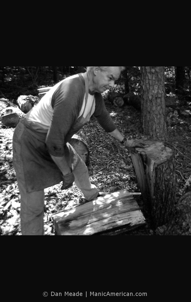 Keith Allen wood splitting lesson, #5