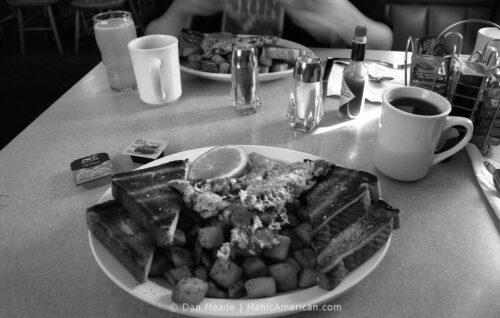 A lumberjack breakfast plate.