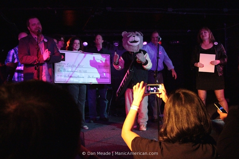 Keytar Bear at the Middle East in 2014.