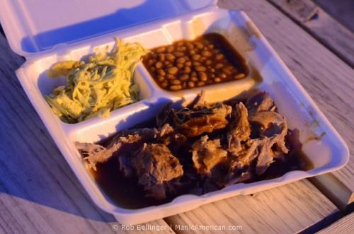 Whole Hog Barbecue Plate at the Hi-Tone, Memphis