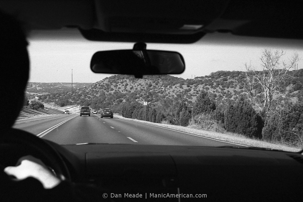 Driving into Hill Country.