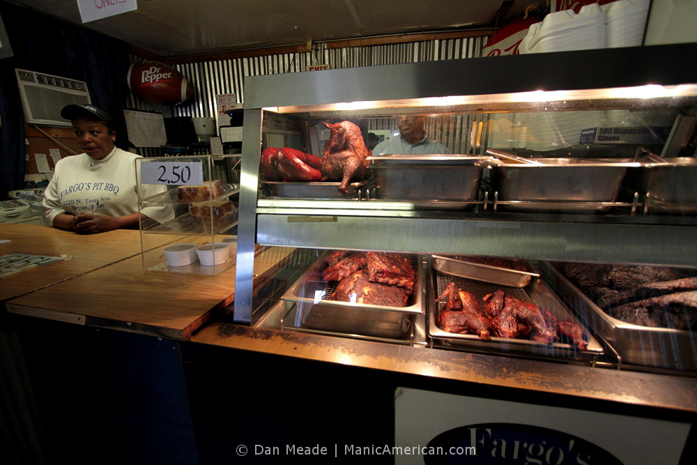 Inside Fargo's Pit BBQ: The counter