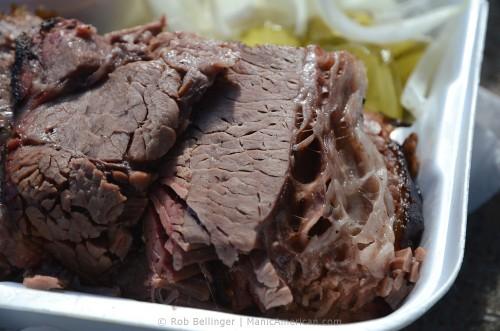 The brisket at Fargo's Pit BBQ.