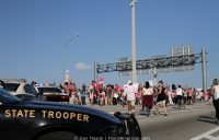 State Troopers block 395 for the march
