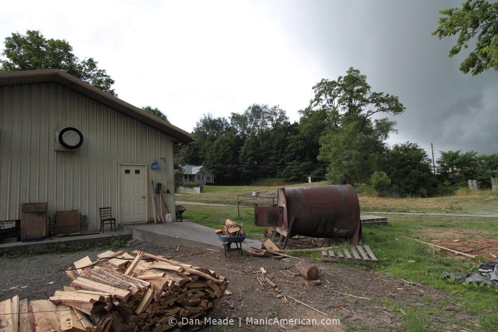 The backyard of R&S BBQ