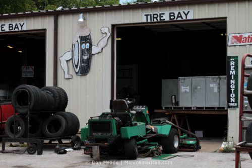 The Tire Bay of Ben's Bait & Tackle, Bowling Green, KY.