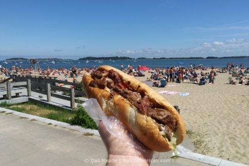 Sal's steak tip sub at M Street Beach