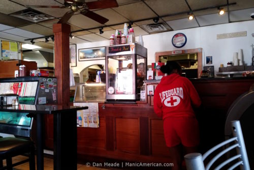 The counter of Sal's in Southie