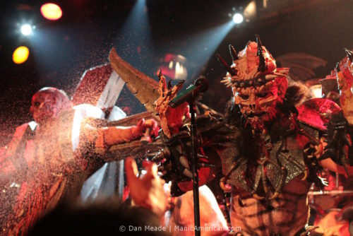 Oderus with a vivisected Jesus charecter.