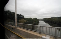 view of the Schuylkill river from the #9 bus