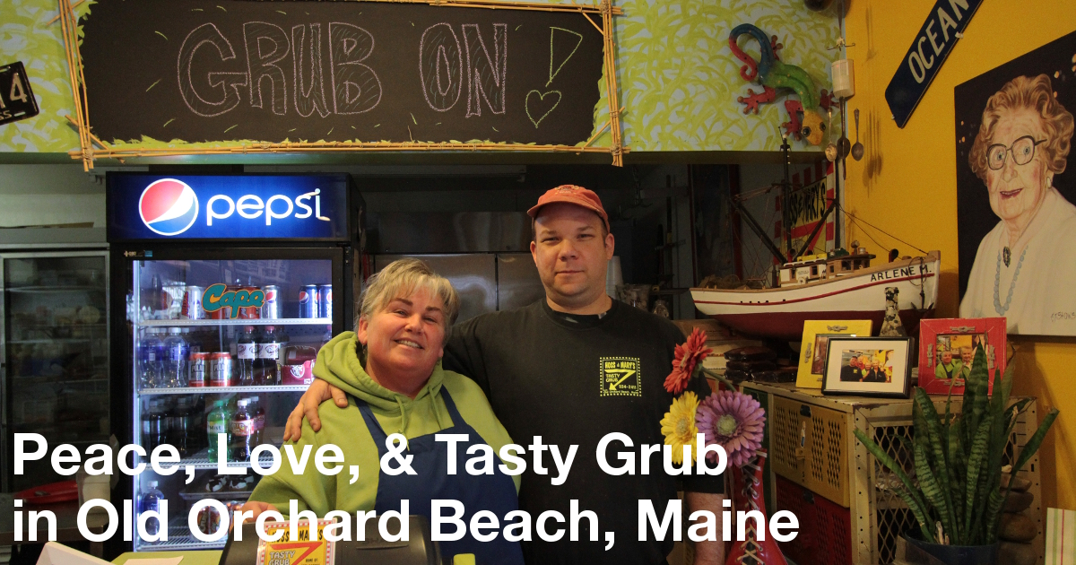 "Deena ""Mary"" Eskew and Brian ""Hoss"" Coddins behind the counter of their restaurant."
