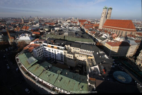Munich's Old Town, as seen from atop the Alter Peter.