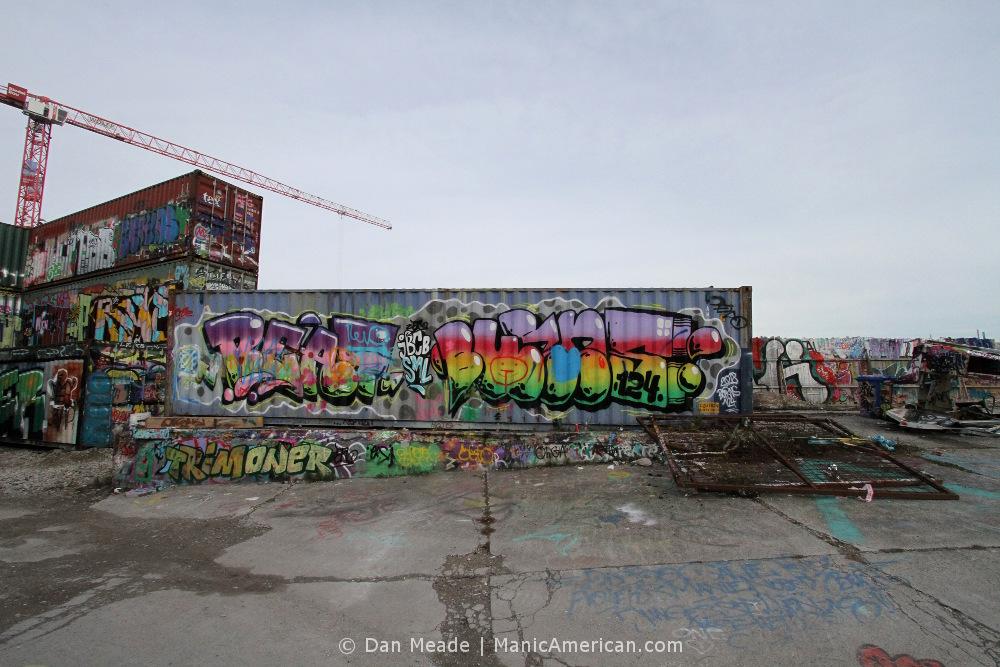 Graffiti at Munich's Bahnwarter Thiel.